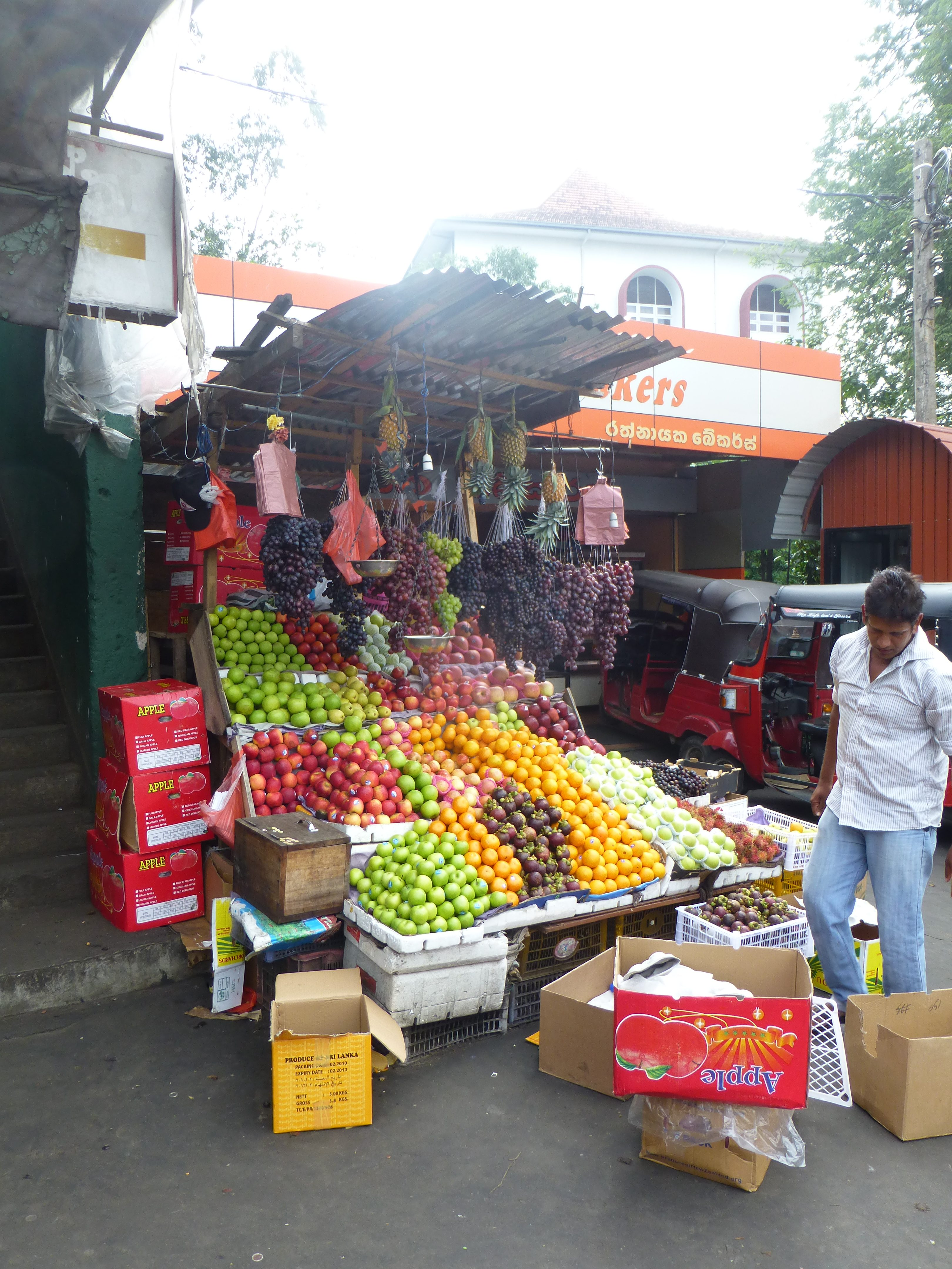 Fruit market stall in Kandy Sri Lanka
