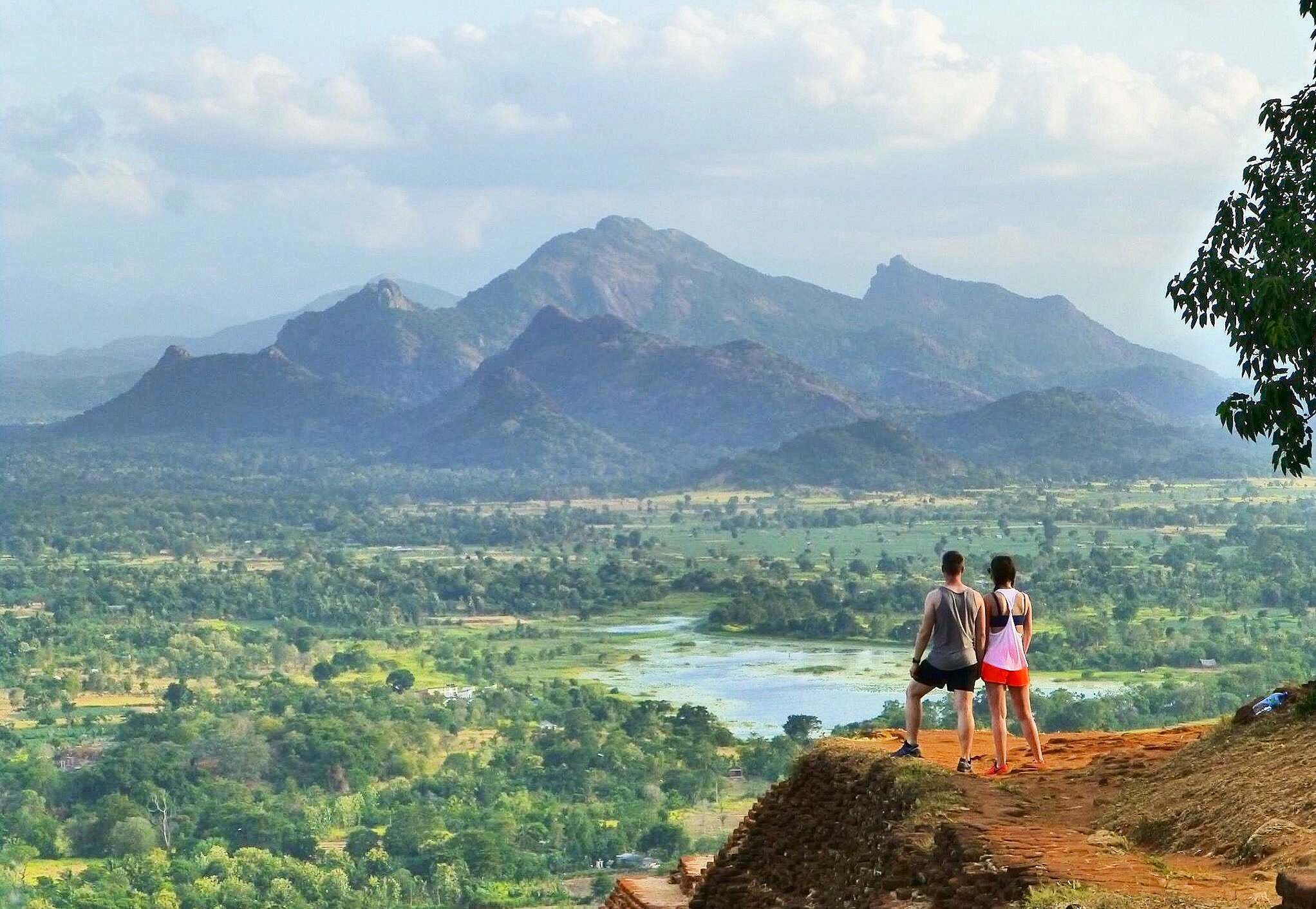 Couple at the top of Sigiriya Rock Sri Lanka