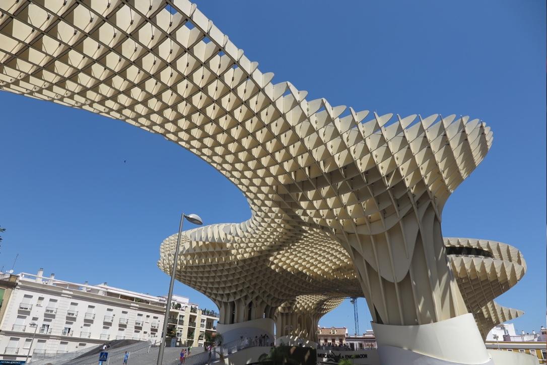 Metropol Parasol Seville from below