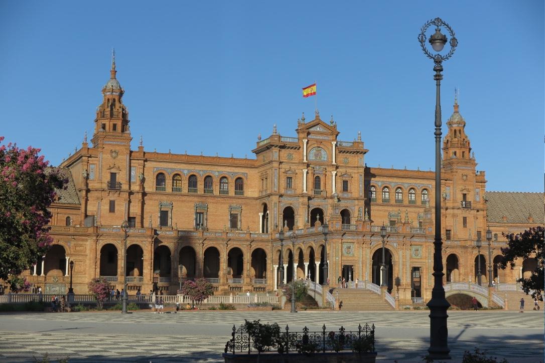 Plaza de Espana main building in Seville