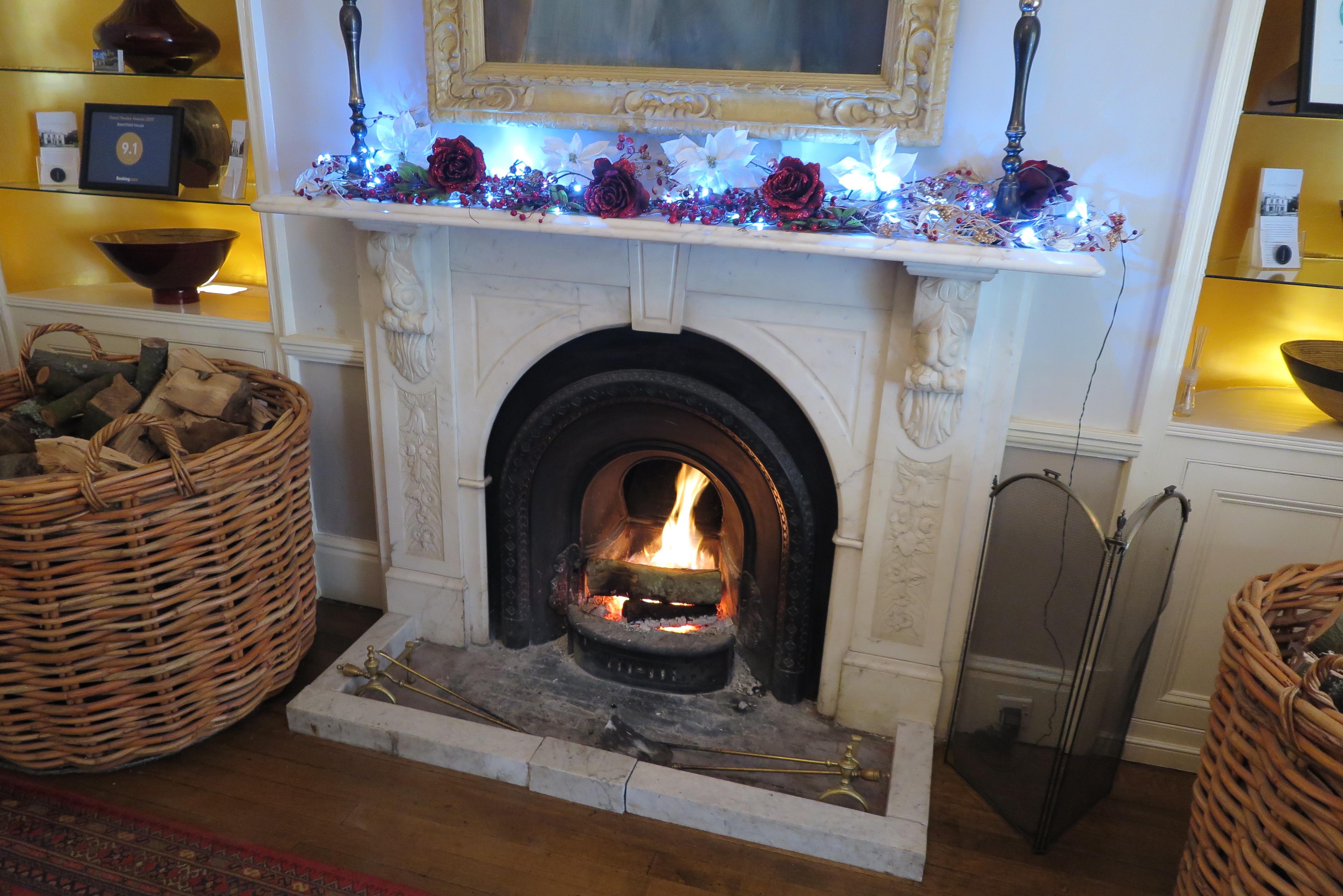Cosy fire Beechfield House Hotel